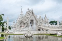 White Temple With Reflecting Pond Stock Photography