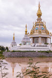 White Temple in thai Stock Photography