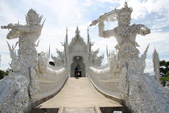 The White Temple in Thailand Stock Photo