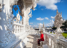 White Temple in Thailand Stock Images