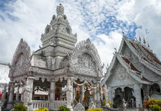 White Temple in Thailand royalty free stock photography