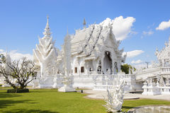 White temple in Thailand Royalty Free Stock Photo