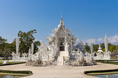 White temple of Thailand. Wat Rongkhun or White Temple, a contemporary unconventional Buddhist temple in Chiangrai, Thailand Stock Image