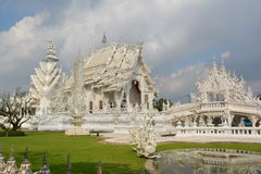 White temple warriors. White temple, Thailand, south east asia Royalty Free Stock Photo
