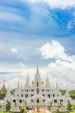 The white temple, wat asokaram Thailand Royalty Free Stock Images
