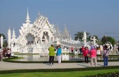 White Temple Wat Rong Khun inChiang Rai Royalty Free Stock Photos