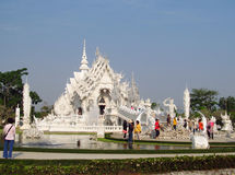White Temple Wat Rong Khun inChiang Rai Stock Image