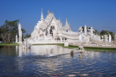 White Temple. Wat Rong Khun or White Temple in  Chiang Rai, Northern Thailand Royalty Free Stock Images