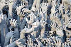 White Temple Wat Rong Khun in Chiang Rai, Northern Thailand Stock Photo
