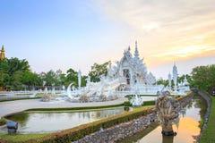 White Temple or Wat Rong Khun in Chiang Rai Province, Thailand. Chiang Rai, Thailand - May 17, 2016: White Temple or Wat Rong Khun is one of the landmark of royalty free stock photos
