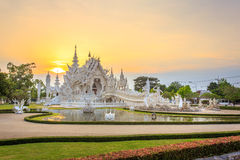White Temple or Wat Rong Khun in Chiang Rai Province, Thailand. Chiang Rai, Thailand - May 17, 2016: White Temple or Wat Rong Khun is one of the landmark of royalty free stock images