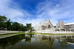 White Temple - Wat Rong Khun in Chiang Rai at sunny day Royalty Free Stock Image