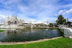 White Temple - Wat Rong Khun in Chiang Rai at sunny day Stock Photo