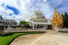 White Temple - Wat Rong Khun in Chiang Rai at sunny day Stock Images