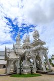 White Temple - Wat Rong Khun in Chiang Rai at sunny day Stock Photos