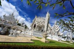 White Temple - Wat Rong Khun in Chiang Rai at sunny day Royalty Free Stock Photos