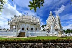 White Temple - Wat Rong Khun in Chiang Rai at sunny day Stock Photos