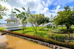 White Temple - Wat Rong Khun in Chiang Rai at sunny day Royalty Free Stock Photo