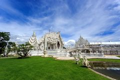 White Temple - Wat Rong Khun in Chiang Rai at sunny day Stock Image