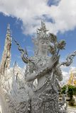 The White Temple, or Wat Rong Khun, Chiang Rai, Thailand stock images