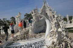 White Temple, Wat Rong Khun in Chiang Rai, Thailand Royalty Free Stock Photos