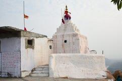White temple. On top of 500 steps. Monkey Temple in Hampi, Karnataka, India Royalty Free Stock Photos