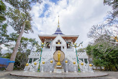 White temple in yasothon thailand. Big White temple in yasothon thailand Royalty Free Stock Photos