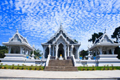 White temples. In Thailand. It is very important to people Stock Photo