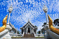 White temples. In Thailand. It is very important to people Royalty Free Stock Photo