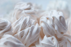 White tender marshmallow close-up. Delicious sweet buffet with white marshmallow high-key shot Stock Photo