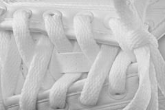 White shoe laces Royalty Free Stock Image