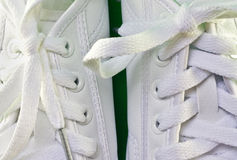 White tennis shoes Royalty Free Stock Photography
