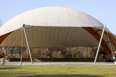 White tensile structure Stock Photography