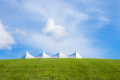 White Tent of Bethal Woods Stock Photo