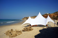 White tent royalty free stock image