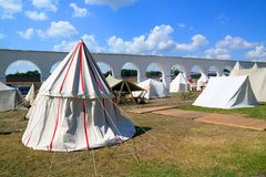 White tents Royalty Free Stock Photography