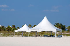 Free White Tents On The Beach Stock Images - 97620474