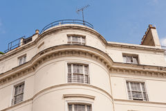 White terrace house in London. Royalty Free Stock Photo