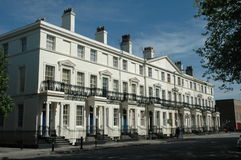 White terraced housing Royalty Free Stock Image
