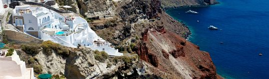 The white terraces of Santorini. Royalty Free Stock Photo