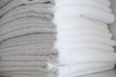 White terry towels Stock Image