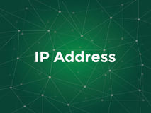 White text illustration for ip address concept - is a numerical label assigned to each device participating in a Royalty Free Stock Photos