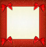 White text place with red ribbons and bow Stock Photo