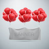 White textile banner mock-up