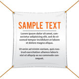 White Textile Banner For Text and Design Royalty Free Stock Photography