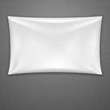 White Textile Banner. Vector Illustration Stock Image