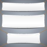 White Textile Banners. Vector Advertising Template Stock Images