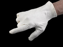 White textile glove Royalty Free Stock Photography