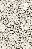 White textile with stylized flowers Stock Photos