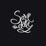 White Texts for Save the Date Concept Stock Photos